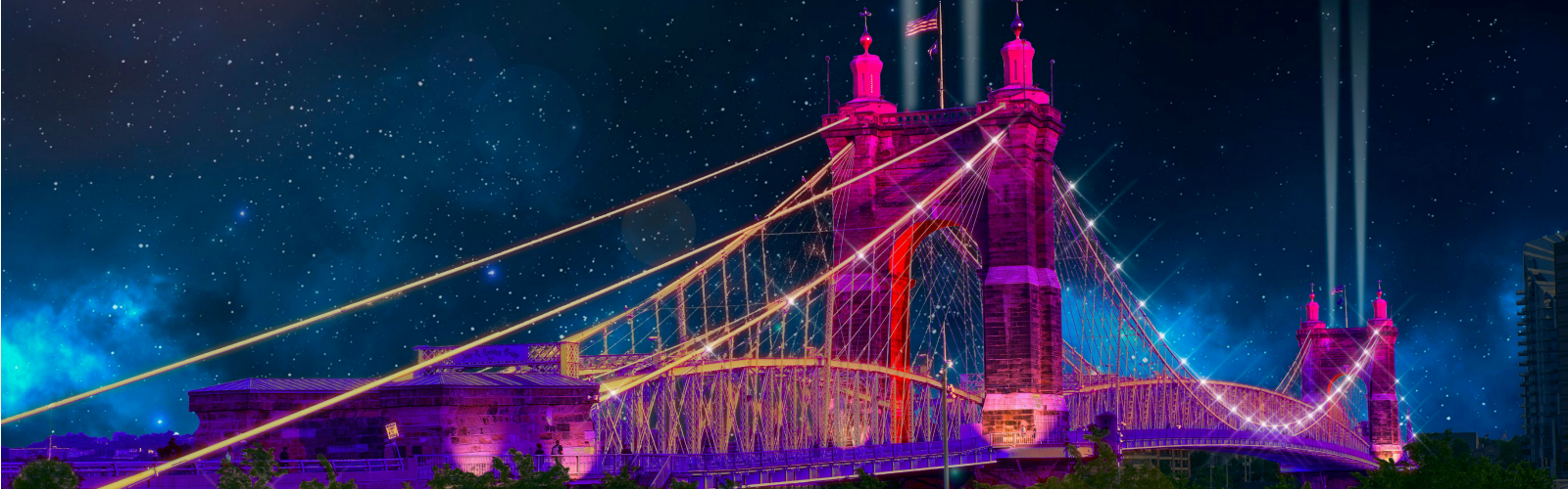 The Suspension Bridge will be lit up by an Erlanger-based company and set to music for Blink 2019.