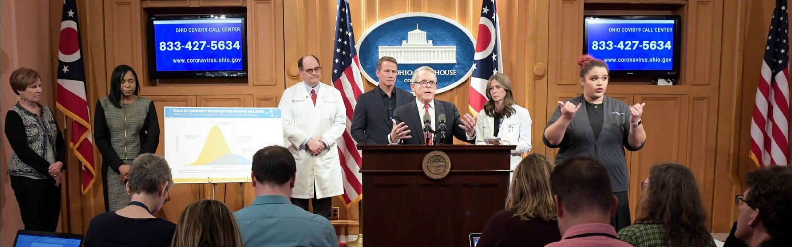Governor Mike DeWine and his team of first responders speak about the first cases of COVID-19 in Ohio.