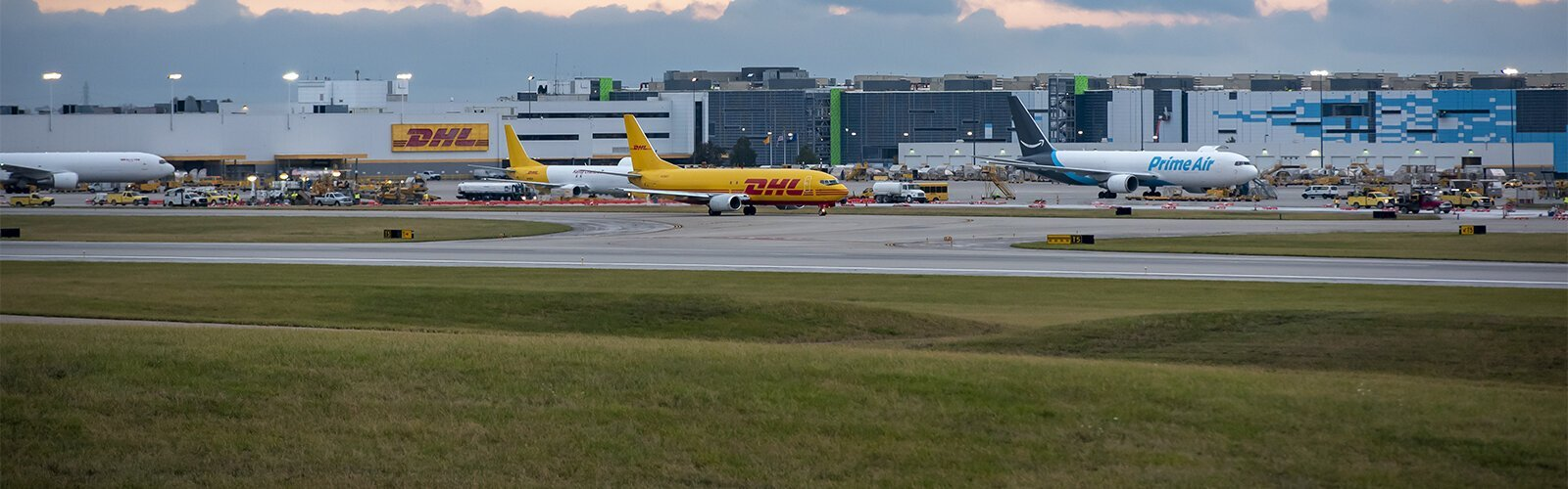 DHL established its international Americas Hub at CVG in 2009 and has invested hundreds of millions to expand the operations, including building a new ramp for additional warehouse space, more aircraft gates to accommodate route expansions, and more.