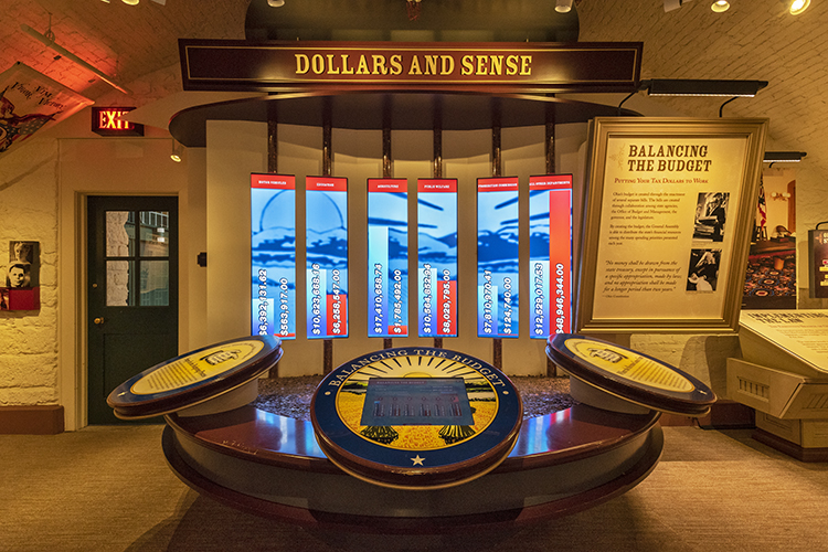 The Ohio Statehouse Museum Education Center has interactive, educational exhibits.