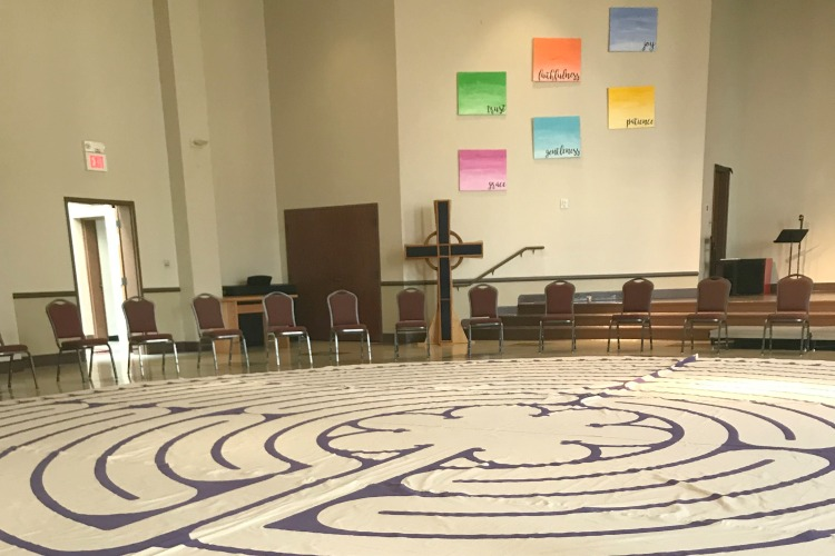 The labyrinth on loan at Knox Presbyterian in Hyde Park