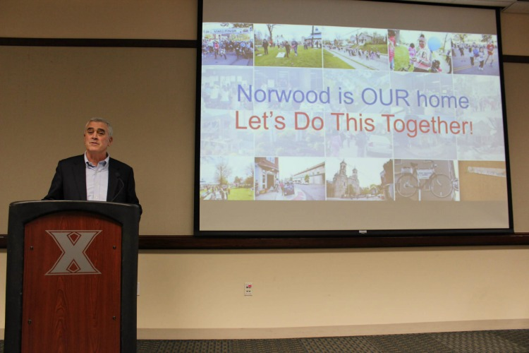 U.S. Rep. Brad Wenstrup delivers the keynote speech at the recent community celebration.