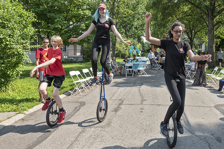 Paddock Hills celebrated their 100th anniversary with a community-wide block party.