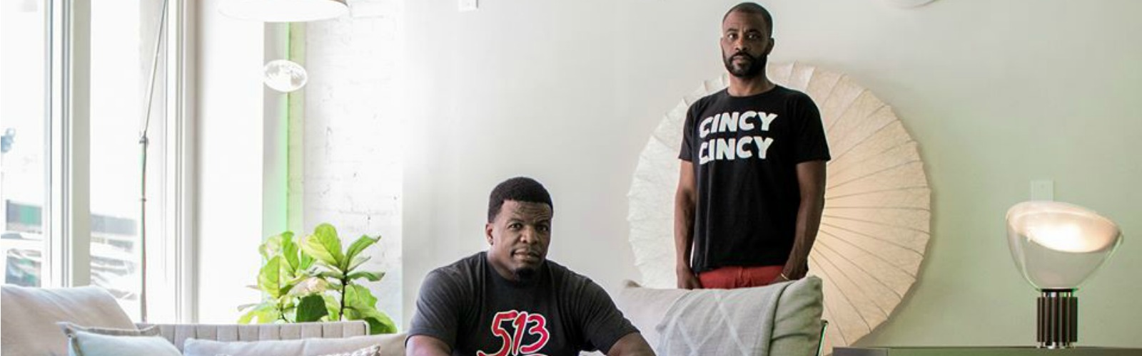 Cincinnati natives Tim'm West (seated) and Derrick Bell  <span class='image-credits'>Provided</span>