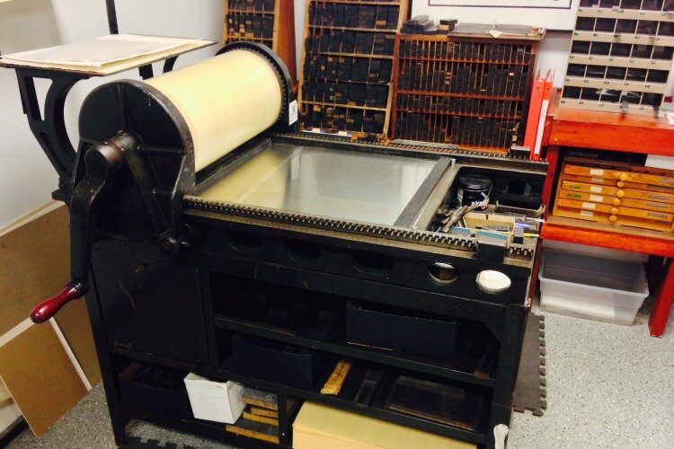 The Vandercook proofing press