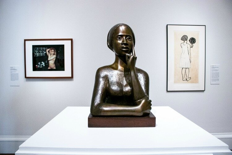 """Women Breaking Boundaries"" features 38 artworks from Europe, North America, and Asia, ranging from oil on canvas, metalwork, ceramic, and prints to photography and fashion."