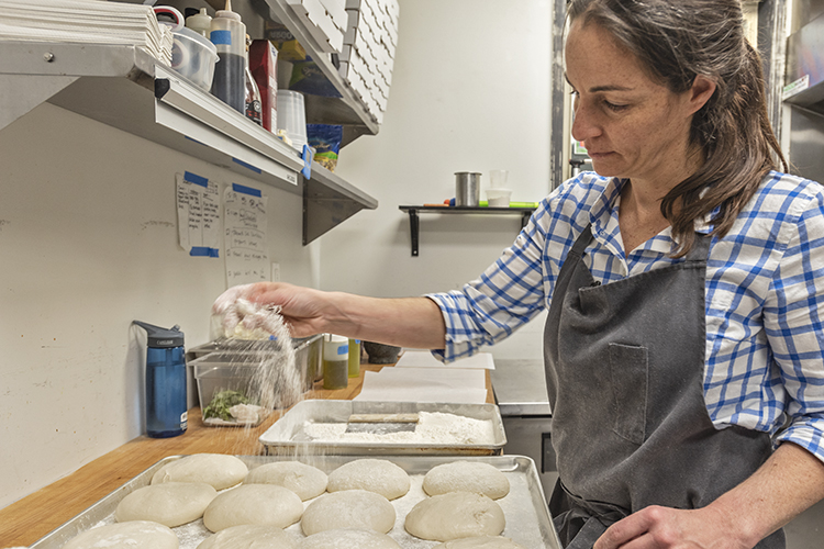 Antenucci uses flour from Italy for her dough.