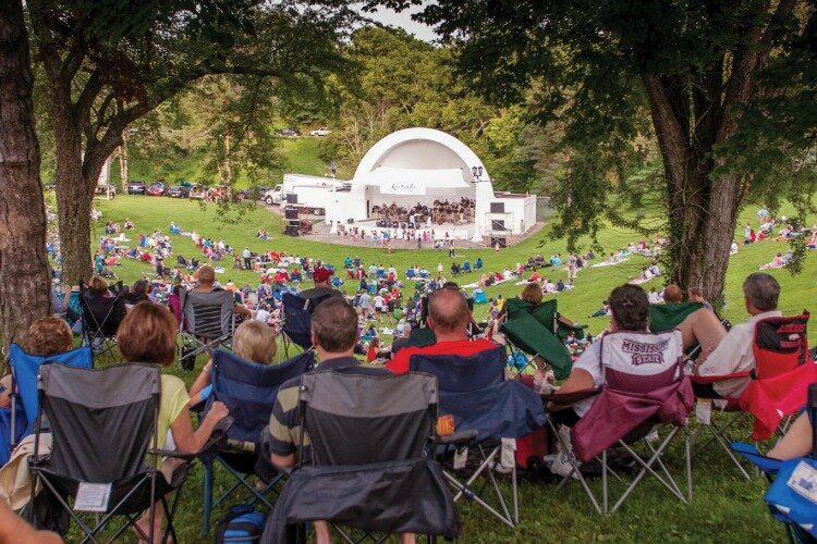 The band shell at Devou Park — along with the greenspace — will allow for social distancing during this year's Summer Series, if necessary.