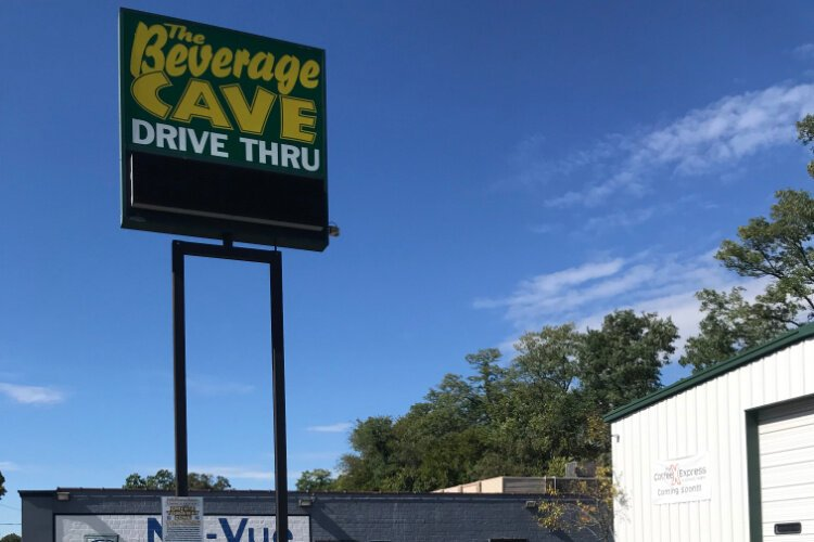 The long-abandoned Beverage Cave in Kennedy Heights will soon be home to the Coffee Express drive-thru.