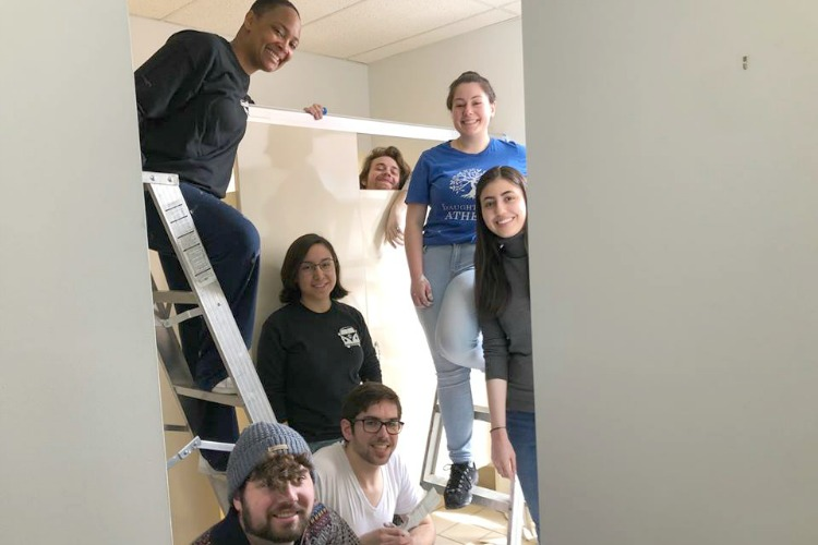 Students from Cornell College in Iowa volunteered with Women Helping Women during their spring break.