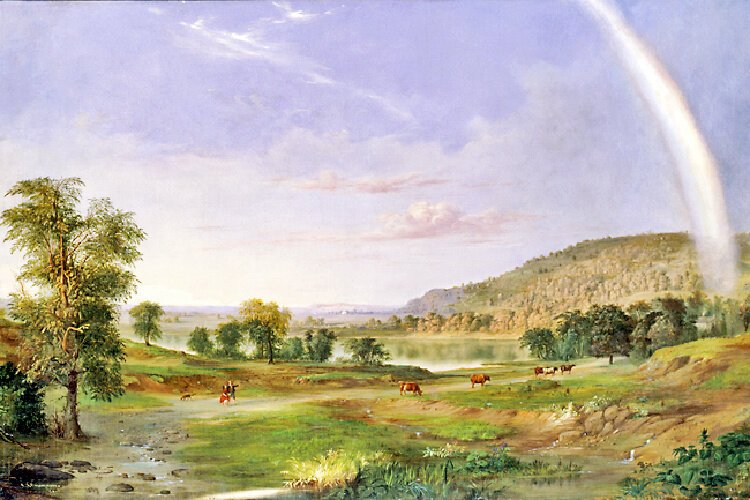 "Robert S. Duncanson's ""Landscape with Rainbow"" is the first painting by a Black artist to hang in the White House."
