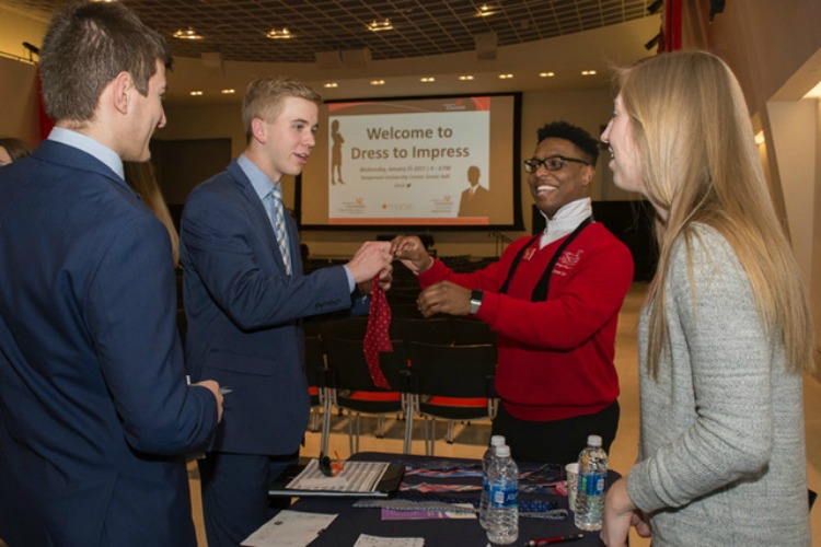 Students at UC's Lindner College of business learn how to select and care for business-appropriate attire.