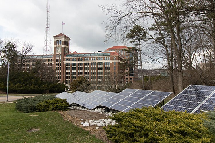 Solar Panels at Eden Park photo by Josh Purnell