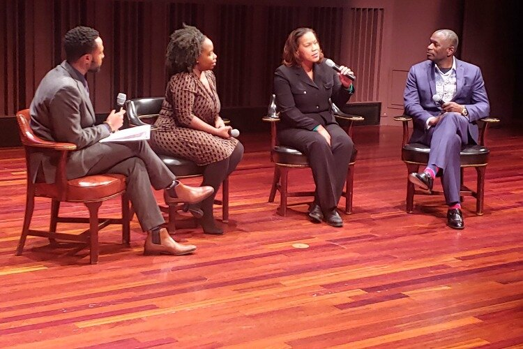 The panel, moderated by Local 12 news anchor Kyle Inskeep, consisted of Barron Witherspoon, Alicia Miller, and Crystal Kendrick.