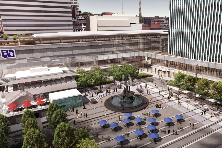 Fifth Third Bank on Fountain Square plans to expand the lobby of its corporate offices.