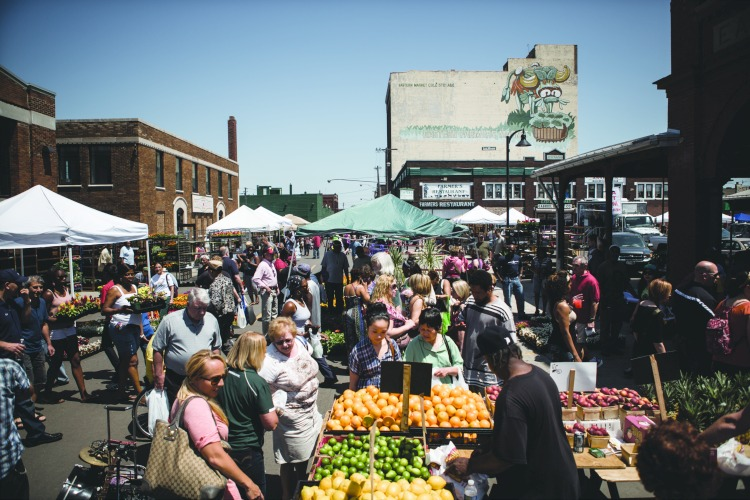 The Detroit Eastern Market's annual Flower Day event in 2017.