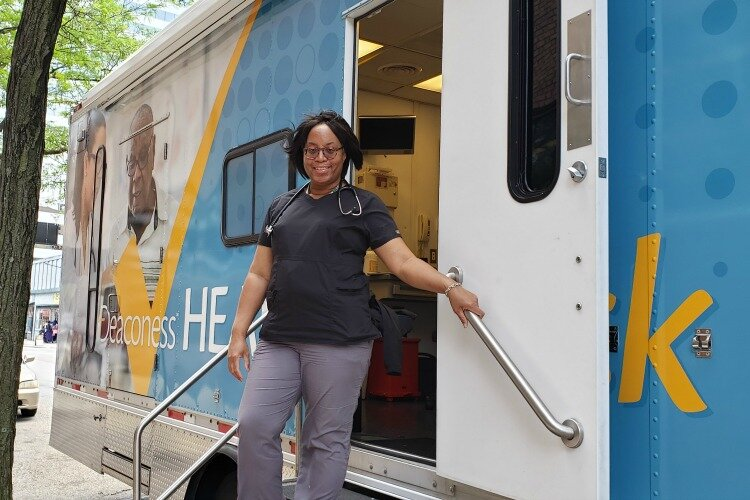Karen Harris is part of the Deaconess Health Check Mobile Primary Care team.
