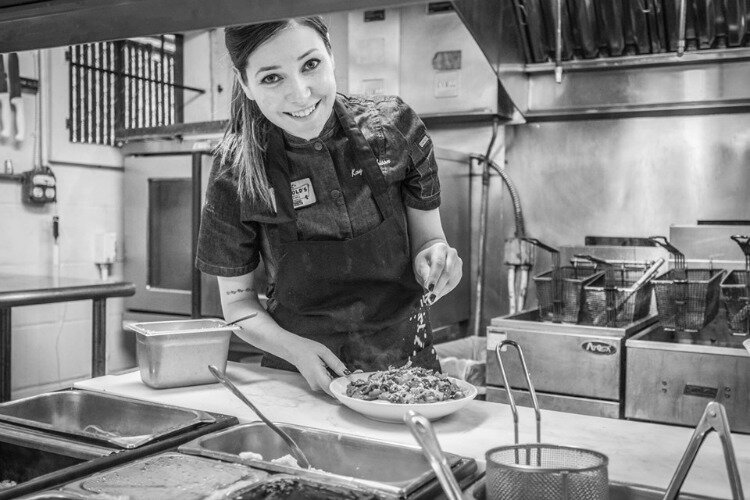 Kayla Robison, the executive chef at Arnold's Bar and Grill.