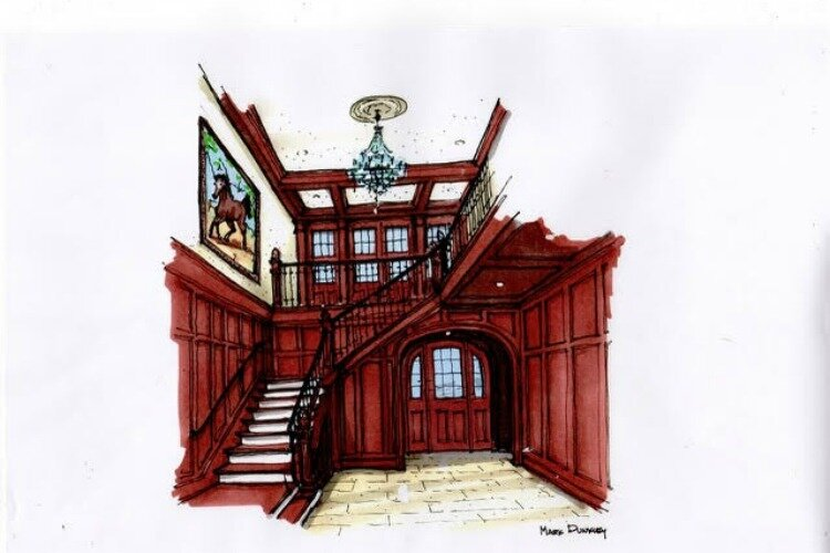 A rendering of the entrance