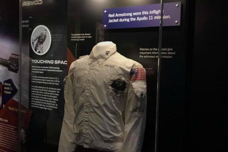 The flight jacket Neil Armstrong wore on Apollo 11.