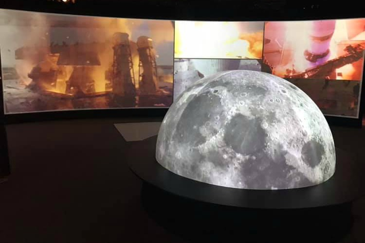 The Neil Armstrong Space Exploration Gallery has a 360-degree immersive theater experience.