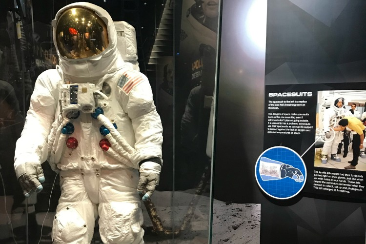 Armstrong's spacesuit from the mission