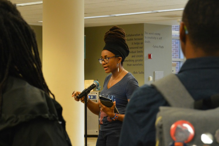 Okorafor spoke about her journey as a writer at the library's main branch.