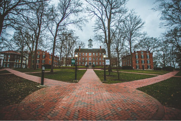 A picture of Ohio University's campus at the beginning of quarantine in March. The shutdown affected more than just their students — others from around the state were hoping to rely on the college's library while in lockdown.
