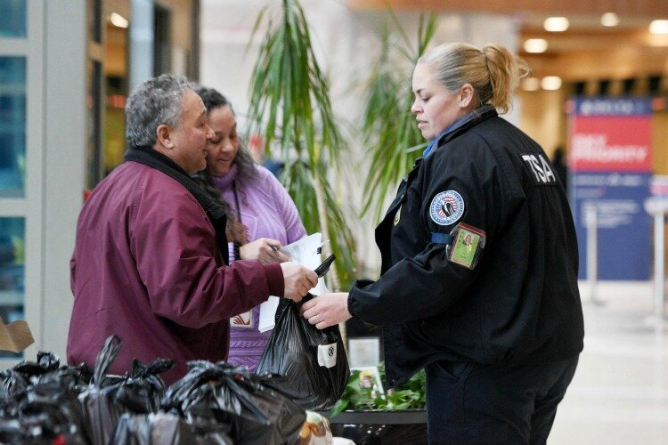 At airports across the country, TSA employees are providing necessities to unemployed colleagues.