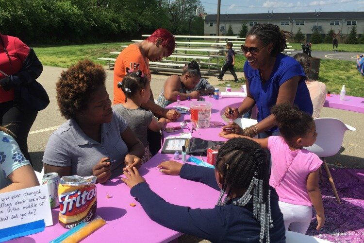 The Safety Planning Awareness Salon engaged with residents at the Villages of Roll Hill Community Center with free manicures and conversations about family planning and reproductive health.
