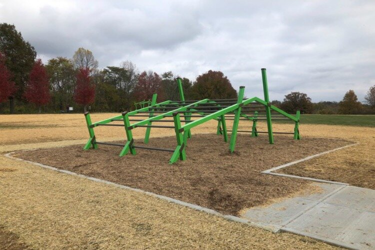 The new obstacle courses at Woodland Mound can be used in a variety of ways.