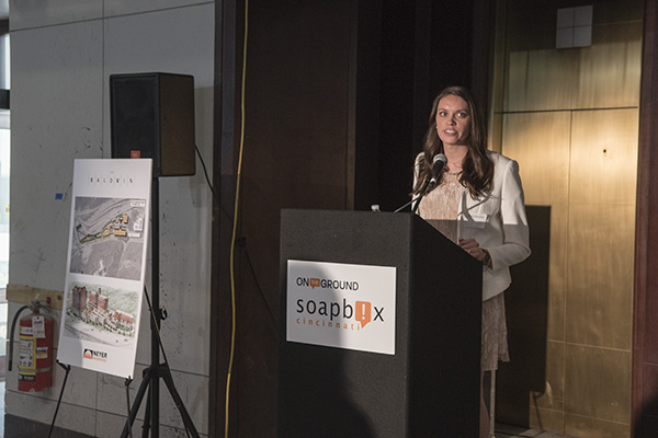 Hilary Marshall, CASTO's manager of marketing and PR, preps guests for the tours.