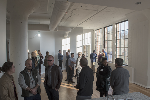 Nearly 150 attendees turned out for food, drink and tours of The Baldwin.
