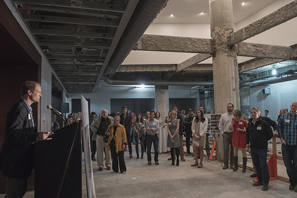 Dan Neyer of Neyer Properties addressed the crowd.