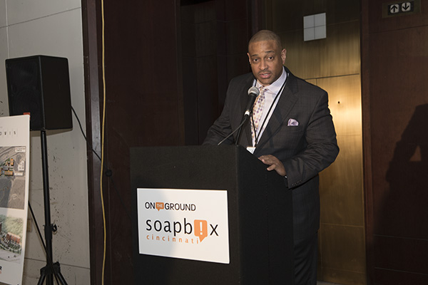 Jeff Hall, principal of Frederick Douglass, was on hand to speak about the school's STEP award.