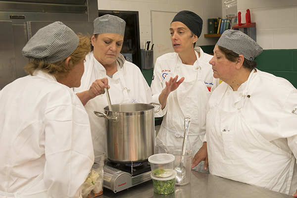 Interact for Health and Cook for America hosted a culinary boot camp in July for cafeteria staff