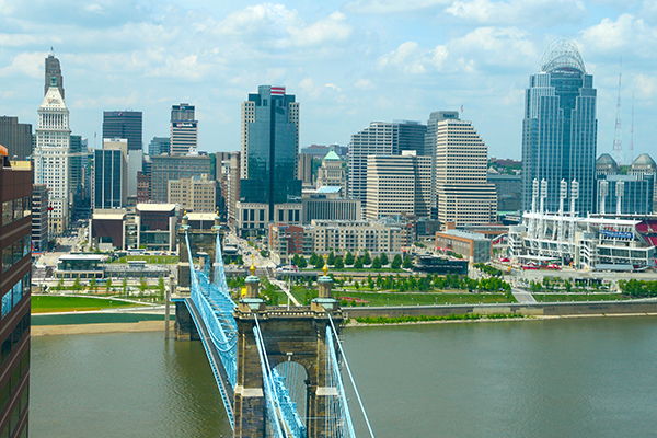 Cincinnati skyline view from The Ascent in Northern Kentucky.