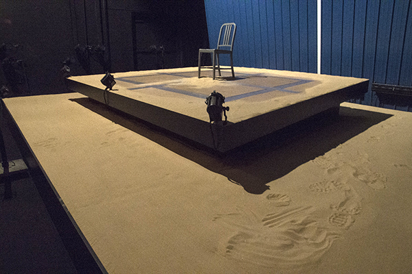 "The stage set for Ensemble Theatre's current production, ""Grounded"""