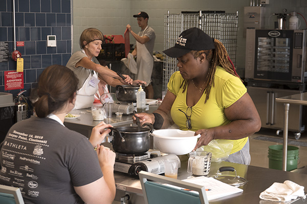 Findlay Kitchen hosts cooking classes in addition to providing entrepreneurs with work space.