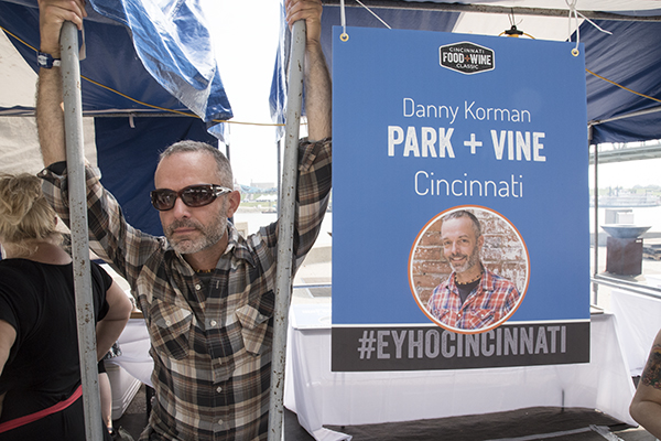 Danny Korman of Park + Vine hanging out at the Cincinnati Food + Wine Classic.