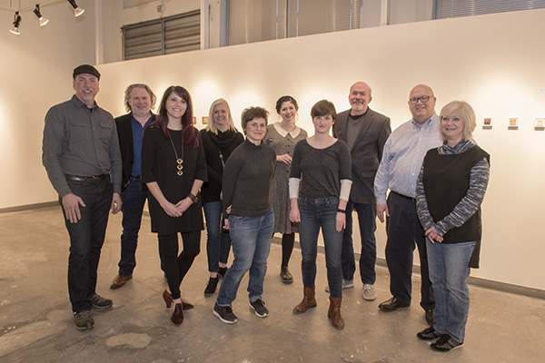 AAC students and alumni gather for the 30th annual Minumental exhibition.