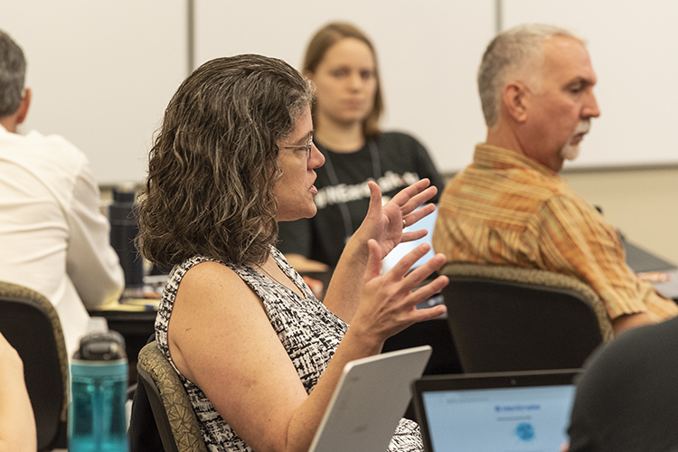 Michelle Kozlowski, participant in Democracy & Me workshop on September 15, 2018.