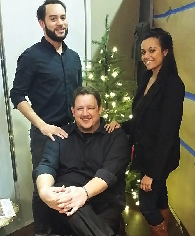 Guido Salzano (center) with employees Will and Lexi