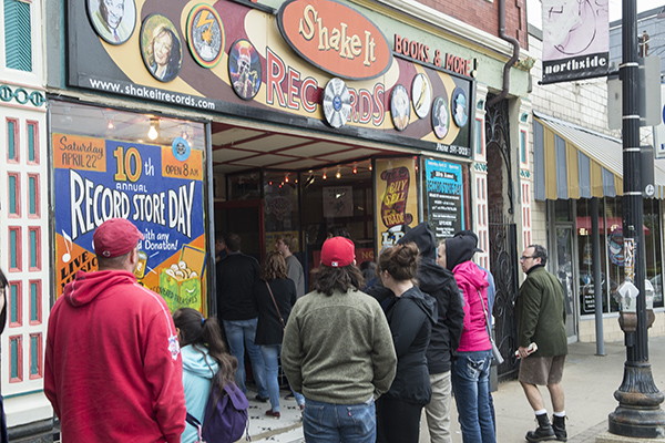 Locally beloved Shake-It Records welcomes Record Store Day visitors on April 22.