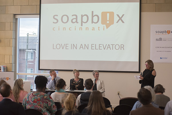 The discussion was moderated by new Soapbox editor Pamela Fisher.