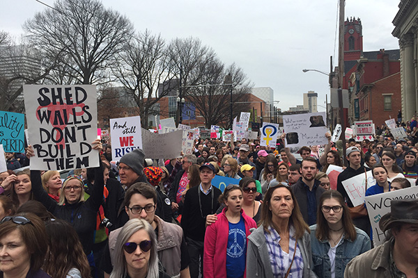Cincinnati's march drew an estimated 12,000-14,000 people.