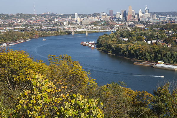 View from Mt. Echo Park in Price Hill