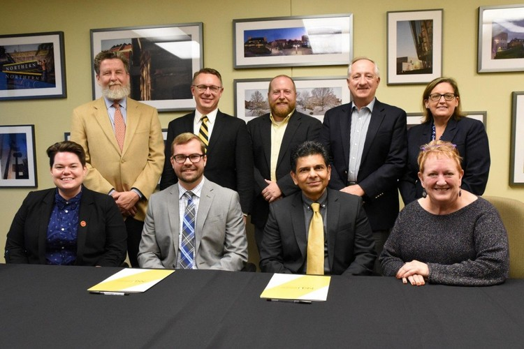 The team that created the partnership that is bringing the Governor's School for Entrepreneurship to NKU in 2019.