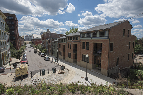 New construction and historic renovation blend seemlessly on Pendleton streets