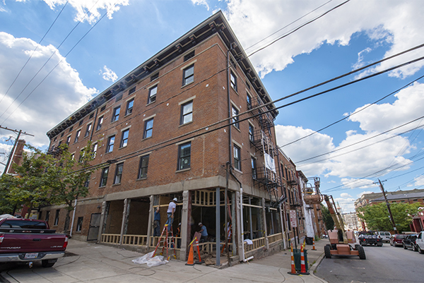 15 different historic structures are being redeveloped with a block of 13th and Broadway